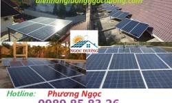 Điện năng lượng mặt trời hòa lưới 5KW, hệ thống điện mặt trời công suất 5KW