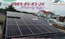Thi công trọn gói hệ thống điện mặt trời hòa lưới 6,3 KW 01 pha, combo hệ thống điện mặt trời