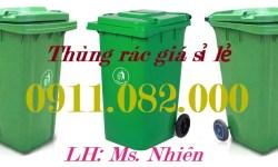 Thùng rác nhựa giá rẻ tại Hậu giang- Bỏ sỉ thùng rác 120L 240L 660L giá cạnh tranh- lh 0911082000