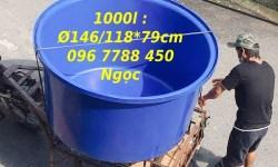 Bồn nhựa tròn lớn nuôi cá 1000lit/3000lit/350lit Lhe 0967788450