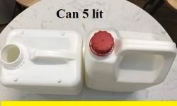 Bán can đựng hóa chất, can nhựa 5 lít, can 5 lít đựng hóa chất, vỏ can nhựa 5 lít,