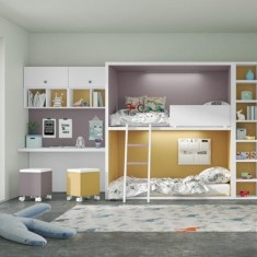 Những mẫu thiết kế nội thất phòng ngủ giường tầng siêu hot hiện nay