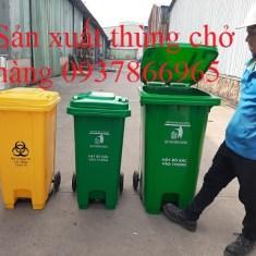 Thùng rác nhựạ có bánh xe, thùng đựng rác, sản xuất thùng rác tại hà nội, thùng rác nhựa công cộng
