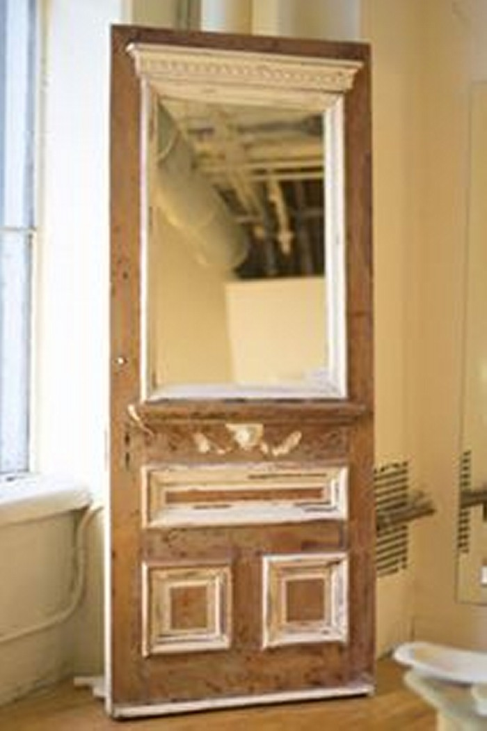 Wall Mirror Cheap Recycled Wood Doors Upcycle Art