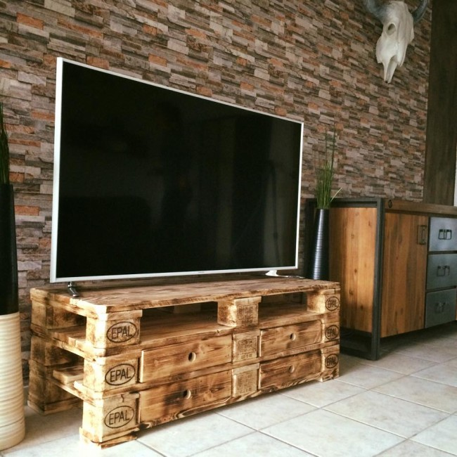 Fabriquer Un Meuble Tv Wooden Pallet Upcycled Tv Stand | Upcycle Art