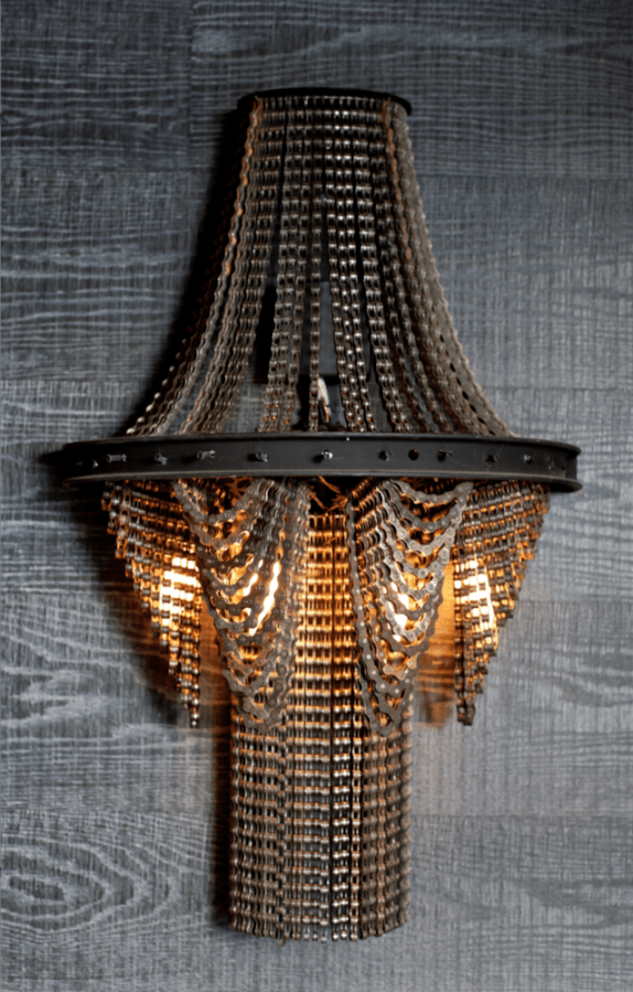 Chandelier Lamp Cool Upcycling Design - Recycled Bicycle Chain Chandeliers