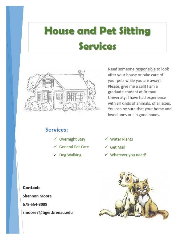 Dog Walking Flyers Pet Grooming Release Forms - MTM