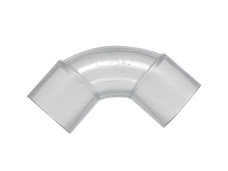 Clipsal Sc245 20 Conduit Elbow Solid 90deg Pvc 20mm Security Fitting Transparent - Vorhang Pvc Transparent
