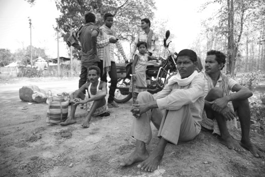 Families of the arrested villagers wait outside Dantewada Jail hoping to get some news of the three missing people.