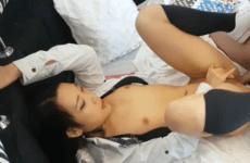 视讯极品女神安娜苏美乳学生制服黑丝诱惑露脸大秀淫