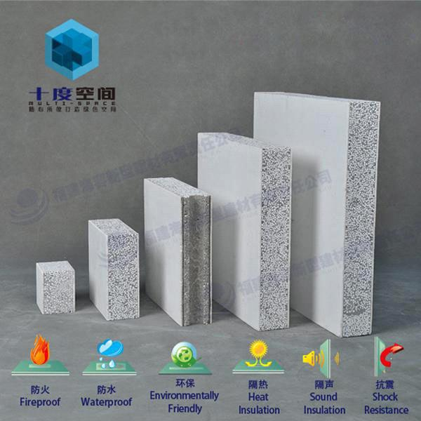 Fireproof  Sound Insulation Composite Solid Polystyrene Concrete - Concrete Wall Insulation
