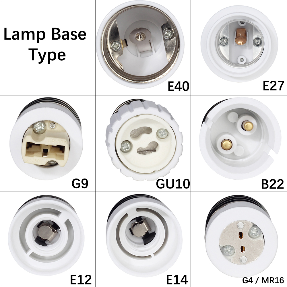 E14 E27 Adapter 1pcs E27 Male To E14 G9 E12 B22 G4 Mr16 Gu10 E40 Female Lamp Base