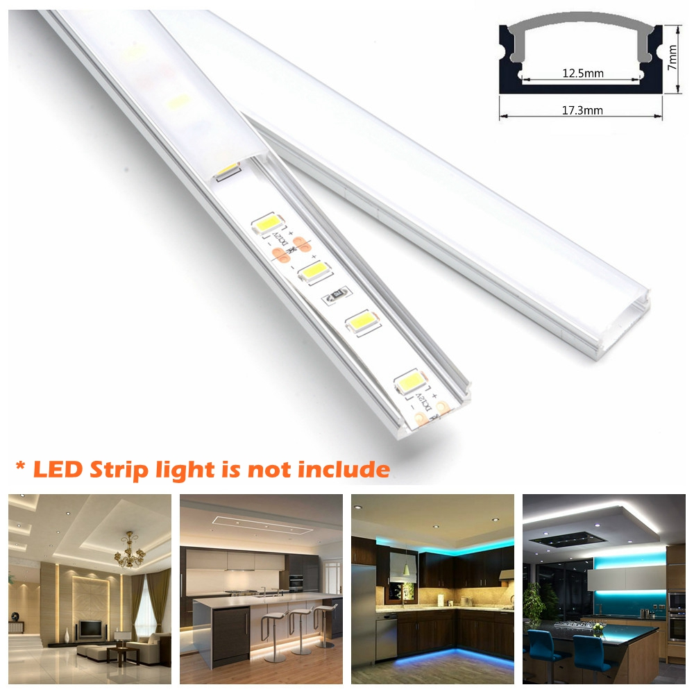 2pcs Dimmable Under Cabinet Strip Lighting7020 7030 9w 50cm Touch Switch Control Kitchen Led Light B Dc12v Rigid Strip Light 10set 1 6ft 5m Set U Shape Led Strip Aluminum Channel Profile