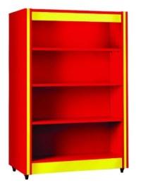 Double Sided Bookshelf with Flat Shelves - Spectrum | Edu-Quip