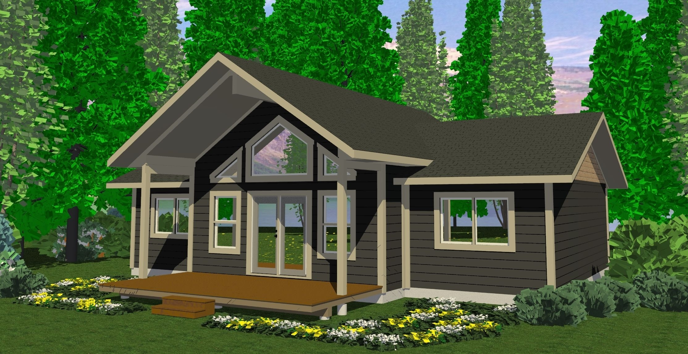 Small 3 Bedroom House Small Modern Cabins Small Cabins And Cottages Plans 3