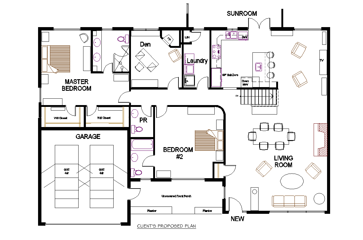 kitchen electrical plan
