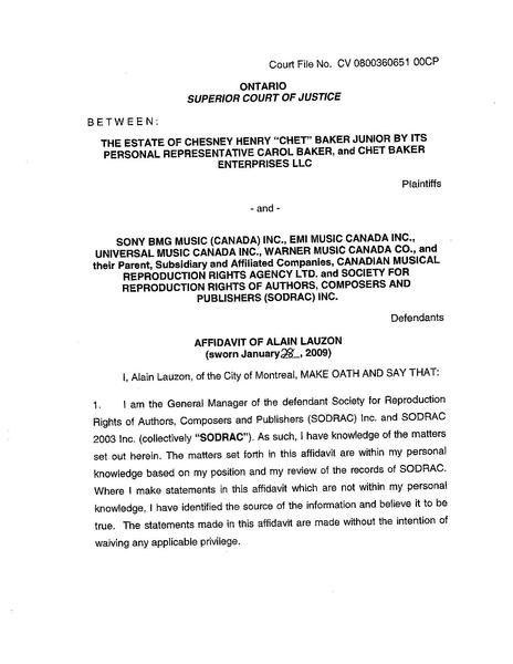 FileAffidavit of Alain Lauzon sworn January 28, 2009PDF - Wikinews - affidavit form in pdf