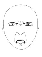 Disgusted Face Drawing