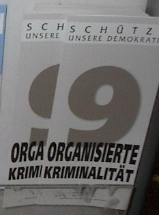 English: Organized crime brochure