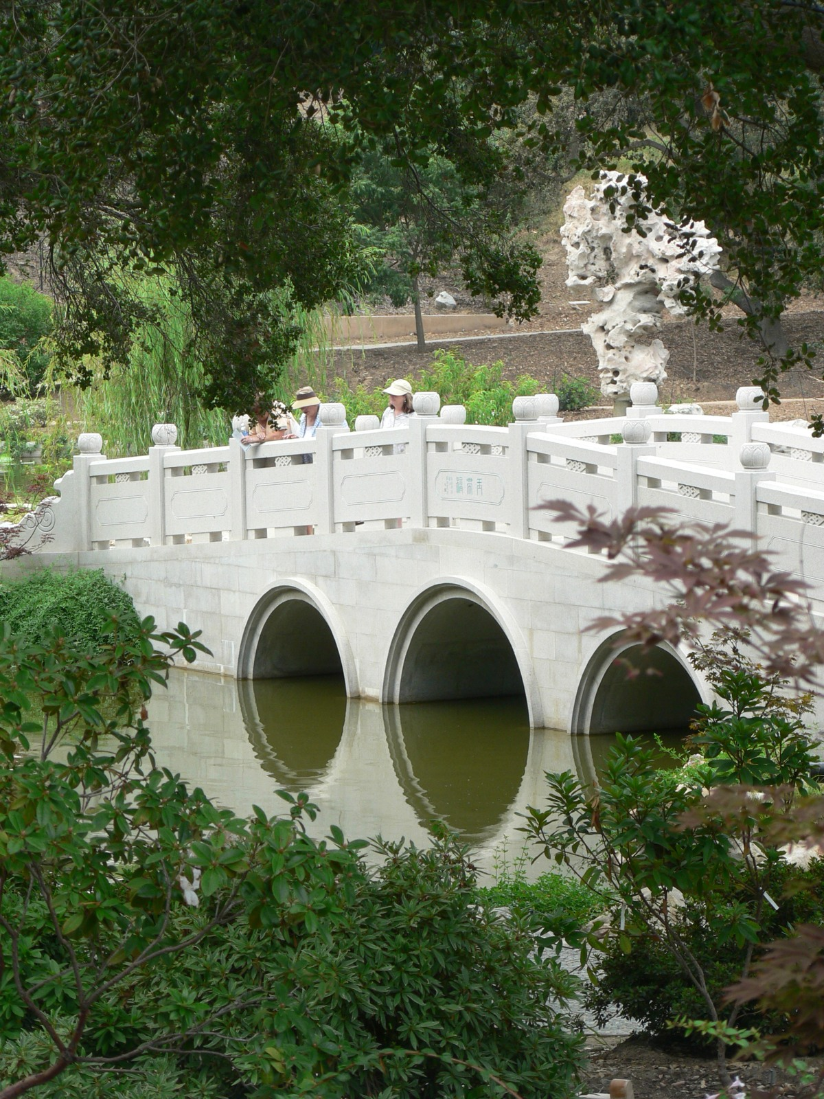 File chinese garden bridge at huntington library jpg