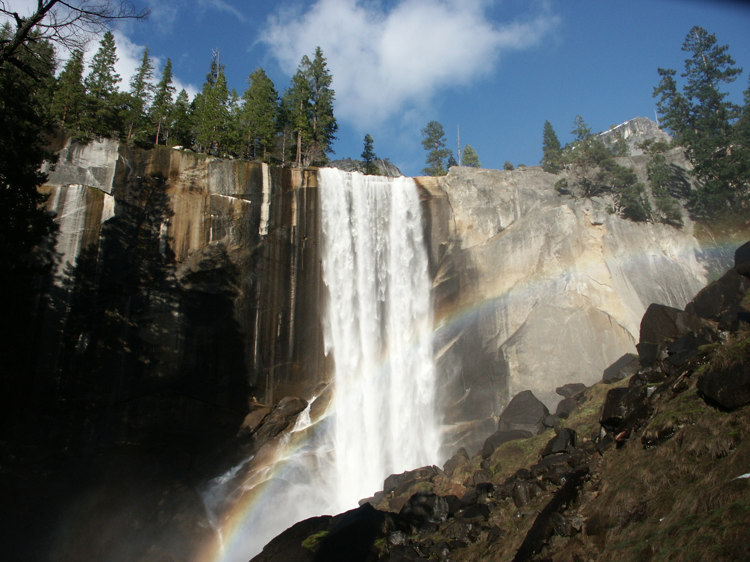 Late Fall Wallpaper File Yosemite N P Vernal Falls Rainbow Jpg Wikimedia