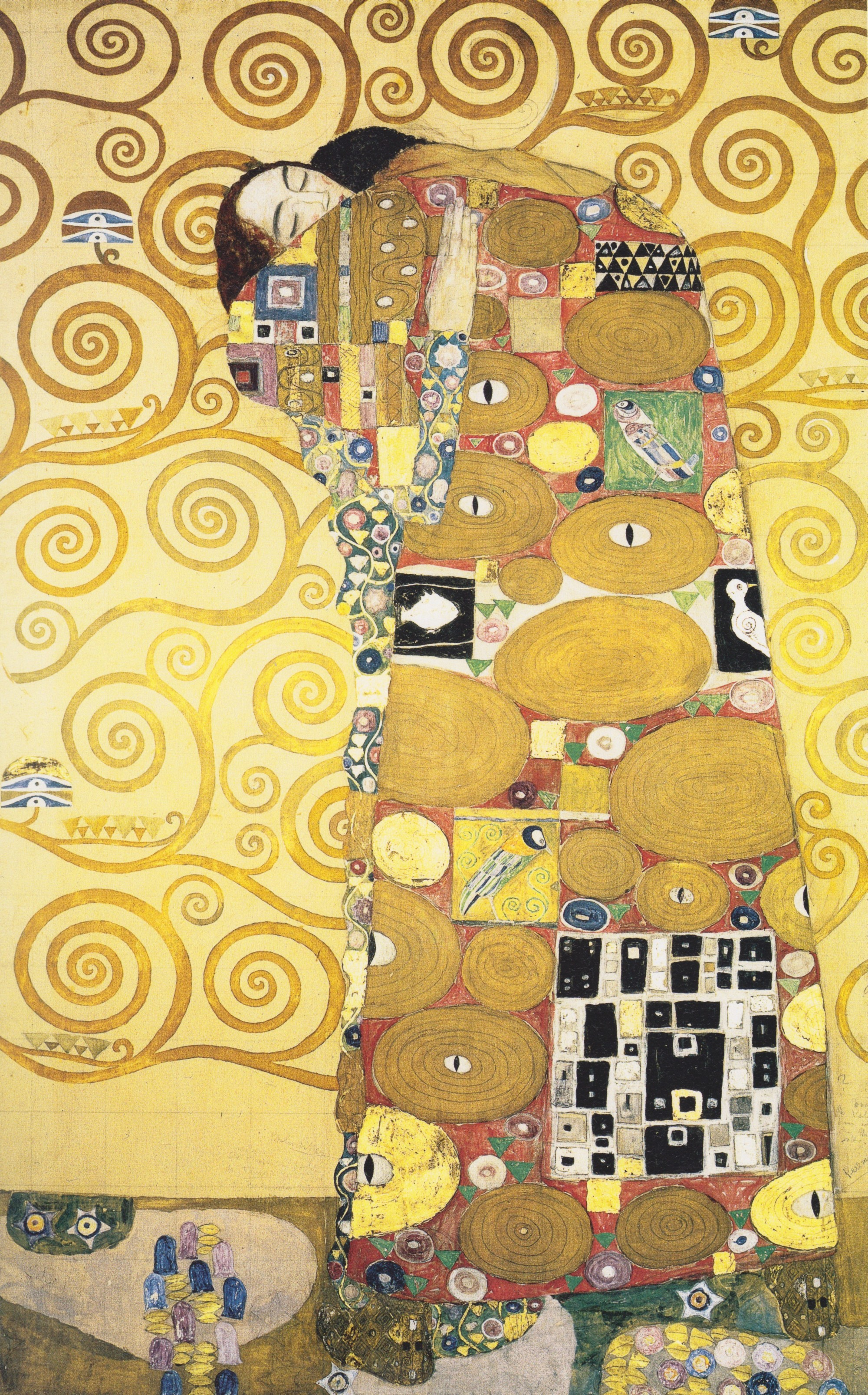 Klimt Fregio Stoclet Gustav Klimt Adolphe Stoclet And Gentile Da Fabriano Or