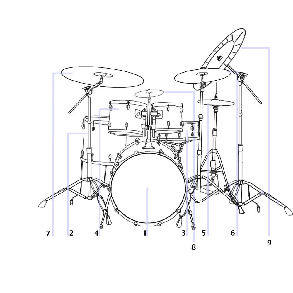 piece drum set diagram car tuning