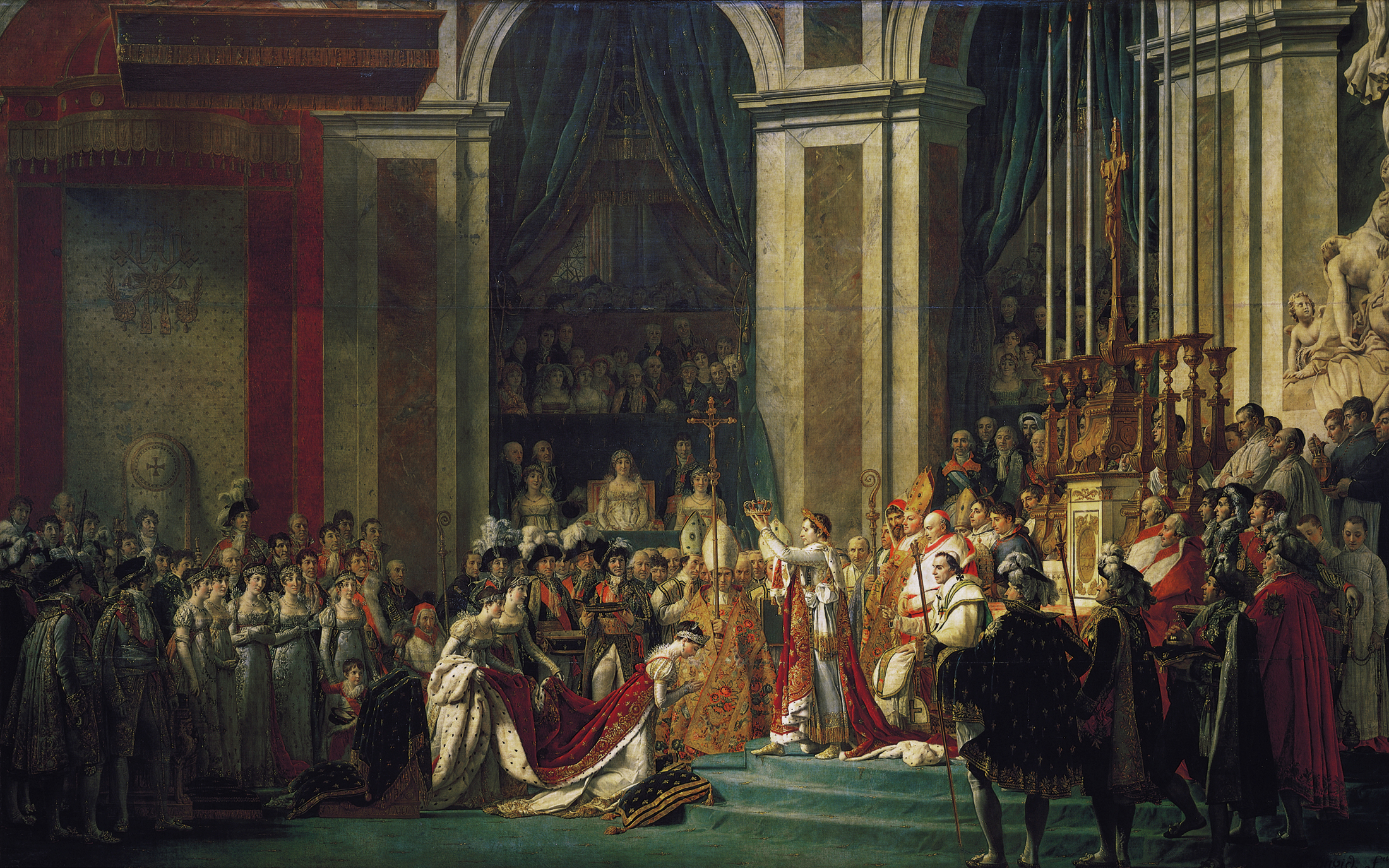 Kaiser Bonaparte Tapijt File Jacques Louis David The Coronation Of Napoleon Edit Jpg