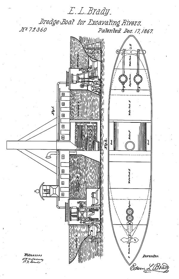 FileDrawing of Brady\u0027s dredging boat, from his patentjpg