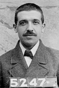 English: Mug shot of Charles Ponzi (March 3, 1...