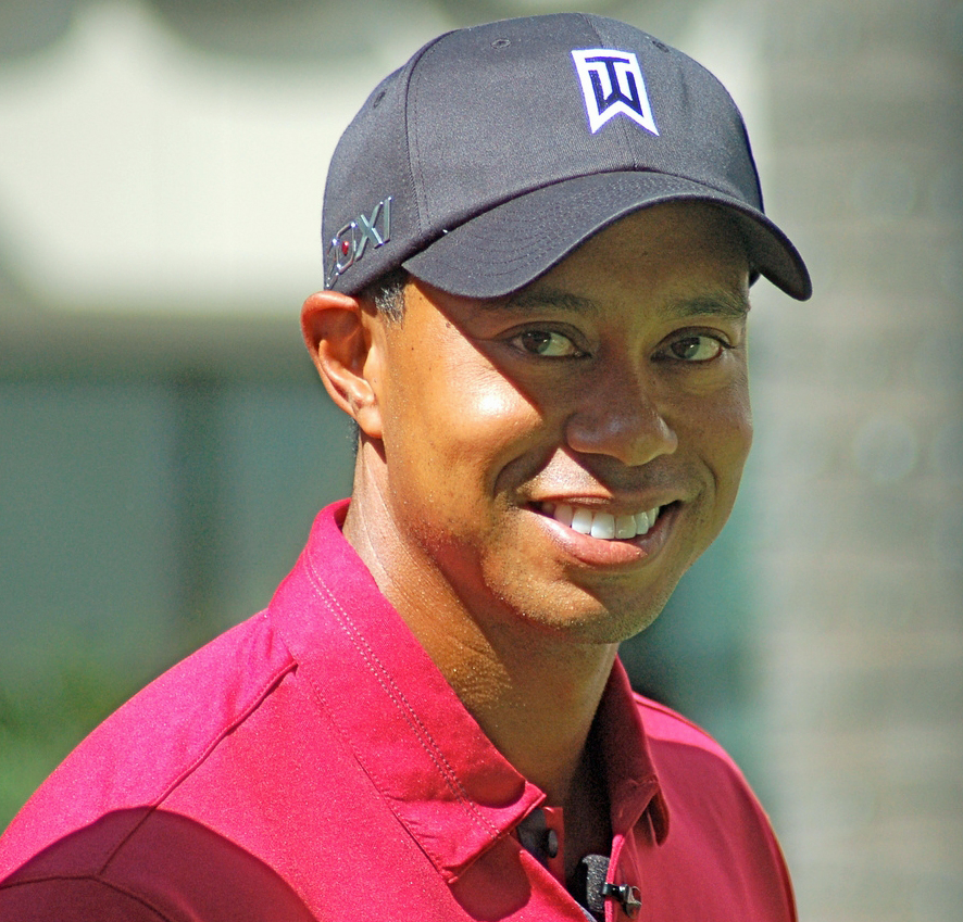 tiger woods age masters