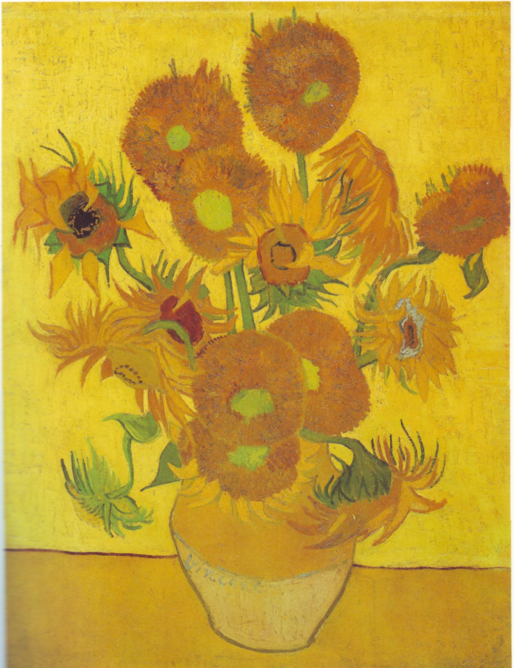 Vincent Van Gogh Paintings Sunflowers File Vincent Van Gogh 0010 Jpg Wikimedia Commons