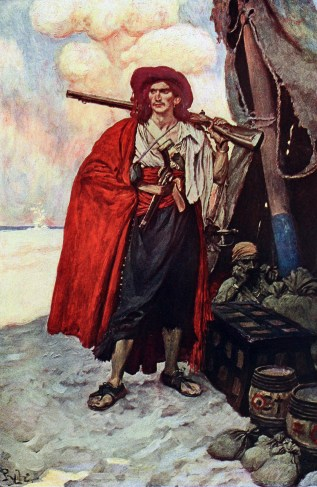 A Howard Pyle Pirate Painting