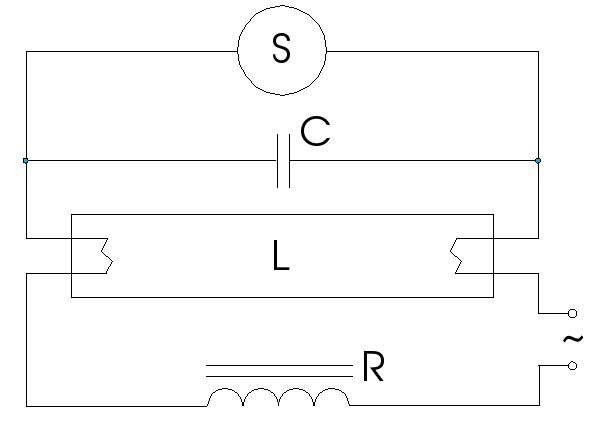 FileFluorescent lamp classic power circuitjpg - Wikimedia Commons