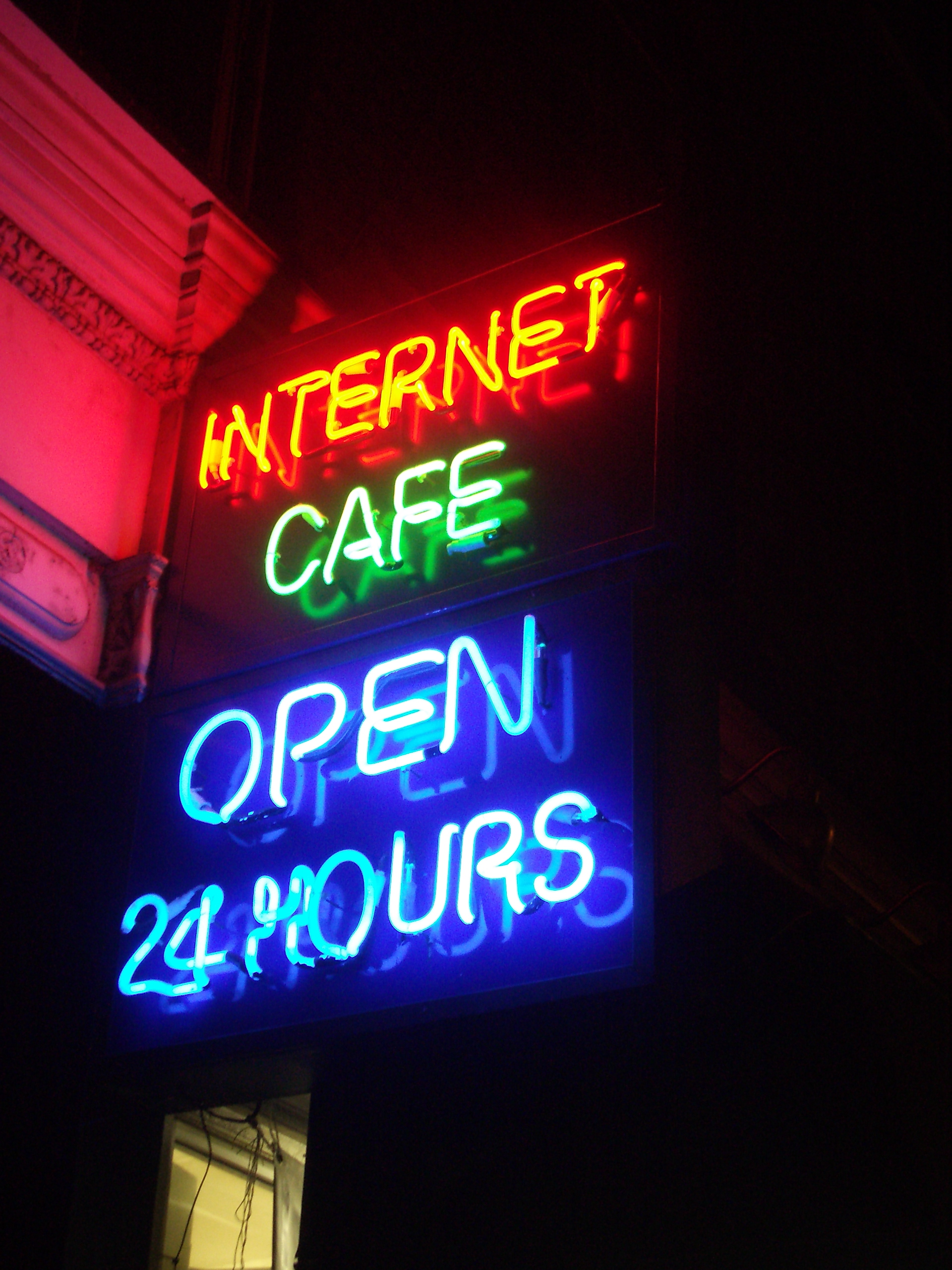 24 Internet File Neon Internet Cafe Open 24 Hours Jpg Wikimedia Commons