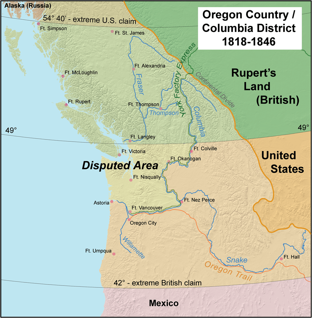 40*50 Oregon Boundary Dispute Wikipedia