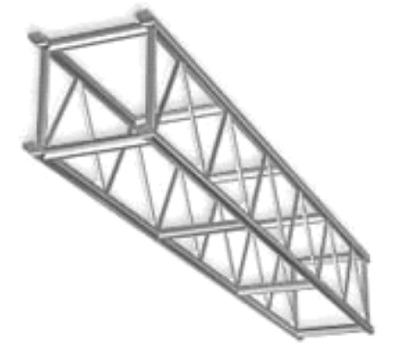 the global body diagram for a three bar truss system