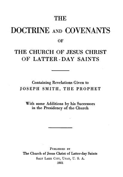 Doctrine and Covenants - Wikipedia