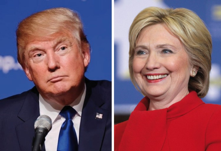 Trump by Michael Vadon | Clinton by Gage Skidmore