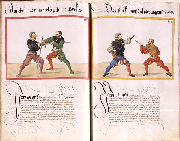 Two techniques from the longsword section in the Dresden codex