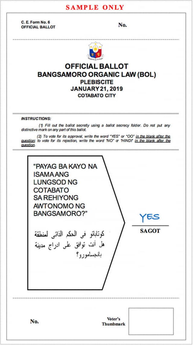 FileBOL ballot sample Cotabato cityjpg - Wikimedia Commons