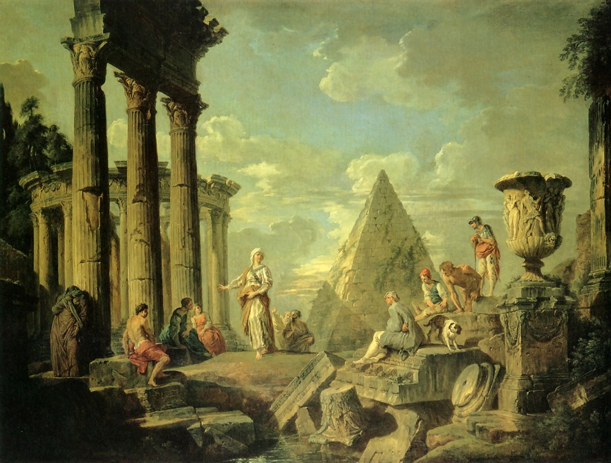 Country Fall Wallpaper File Giovanni Paolo Pannini Sibyl And The Ruins Of Rome