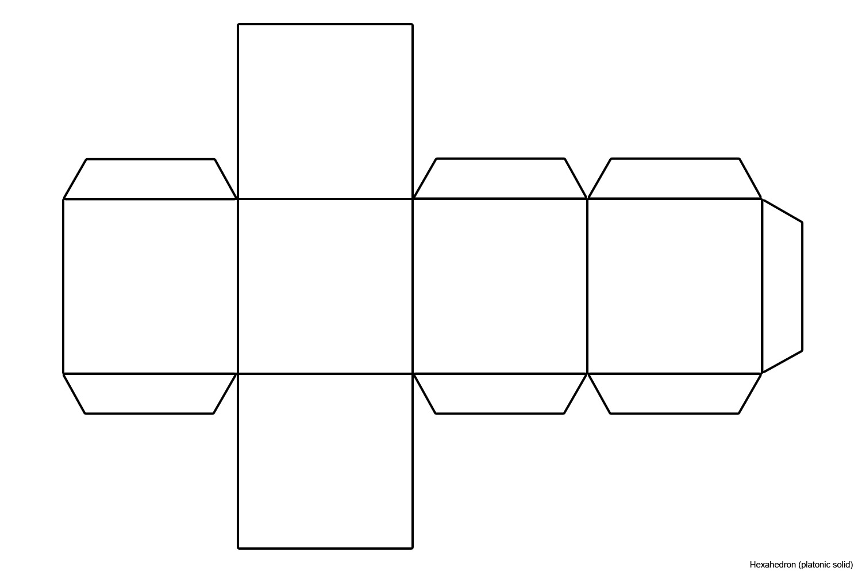 Filefoldable Hexahedron Blankjpg Wikimedia Commons