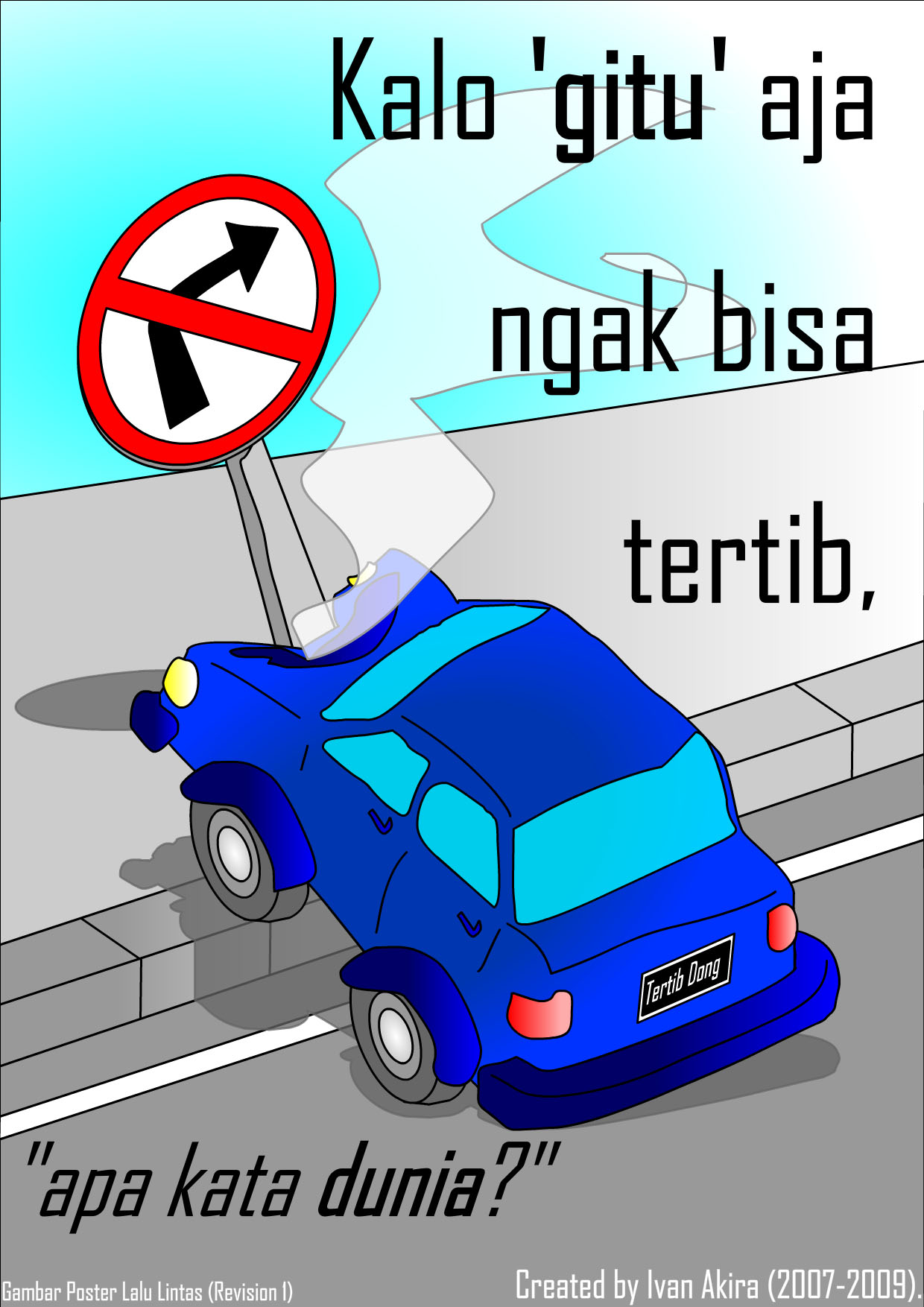 Description Gambar Poster Lalu Lintas