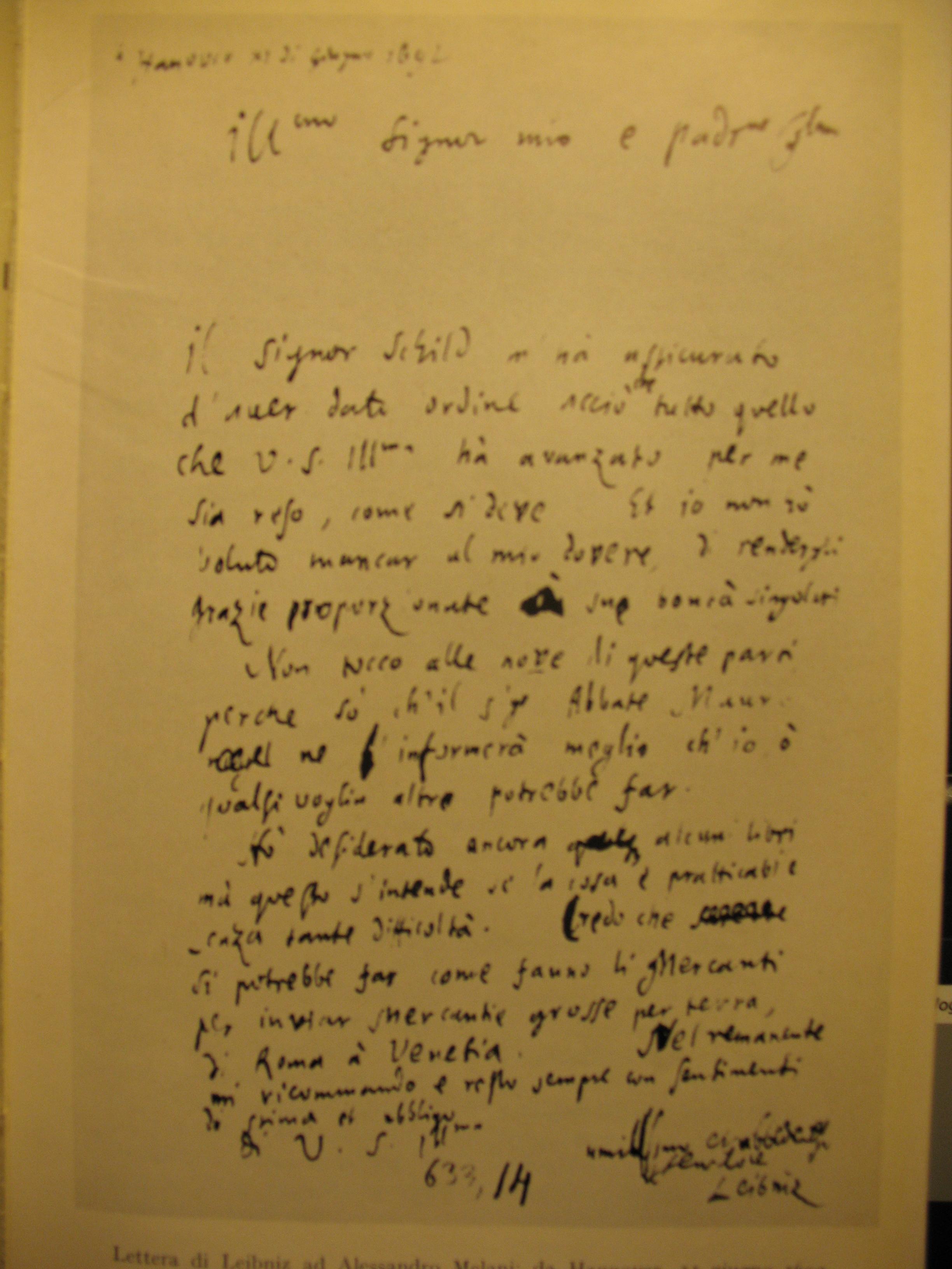 Fathersloveletter Home Fileitalian Letter From Leibnizjpg Wikimedia Commons
