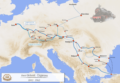 Orient Express Route Map