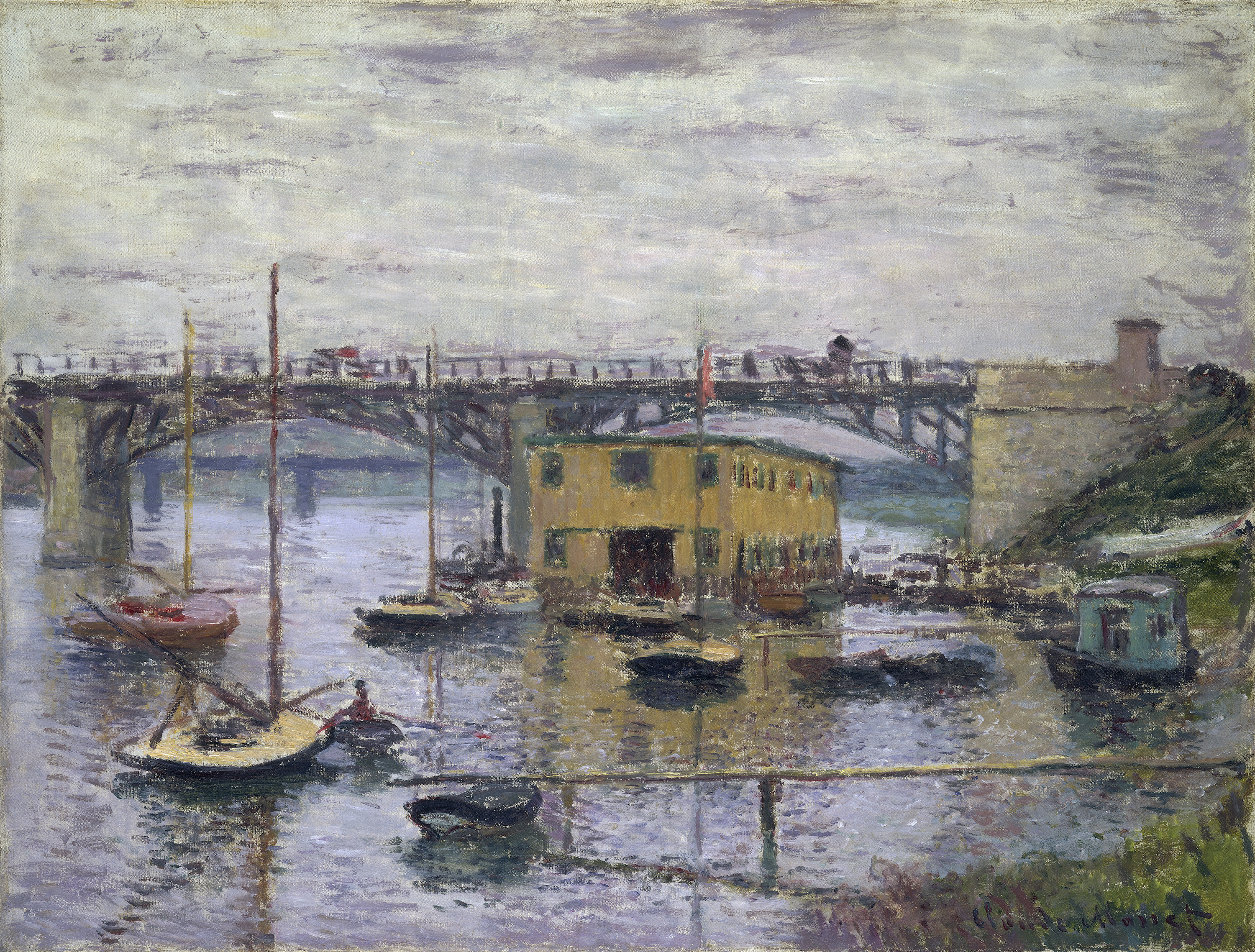 Photo Argenteuil File Monet Bridge At Argenteuil On A Gray Day Jpg Wikimedia