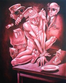 Brainwashing 1, acrílico sobre lienzo, 100 x 80 cms