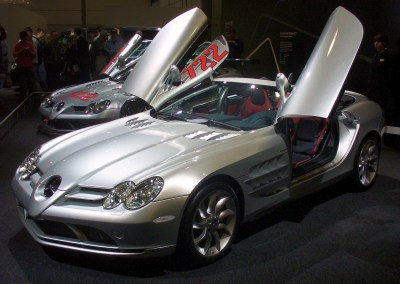 Source: http://i0.wp.com/upload.wikimedia.org/wikipedia/commons/3/38/Mercedes-Benz_SLR_McLaren_Roadster_AMI.JPG?resize=400%2C284, Photo by: Thomas Doerfer