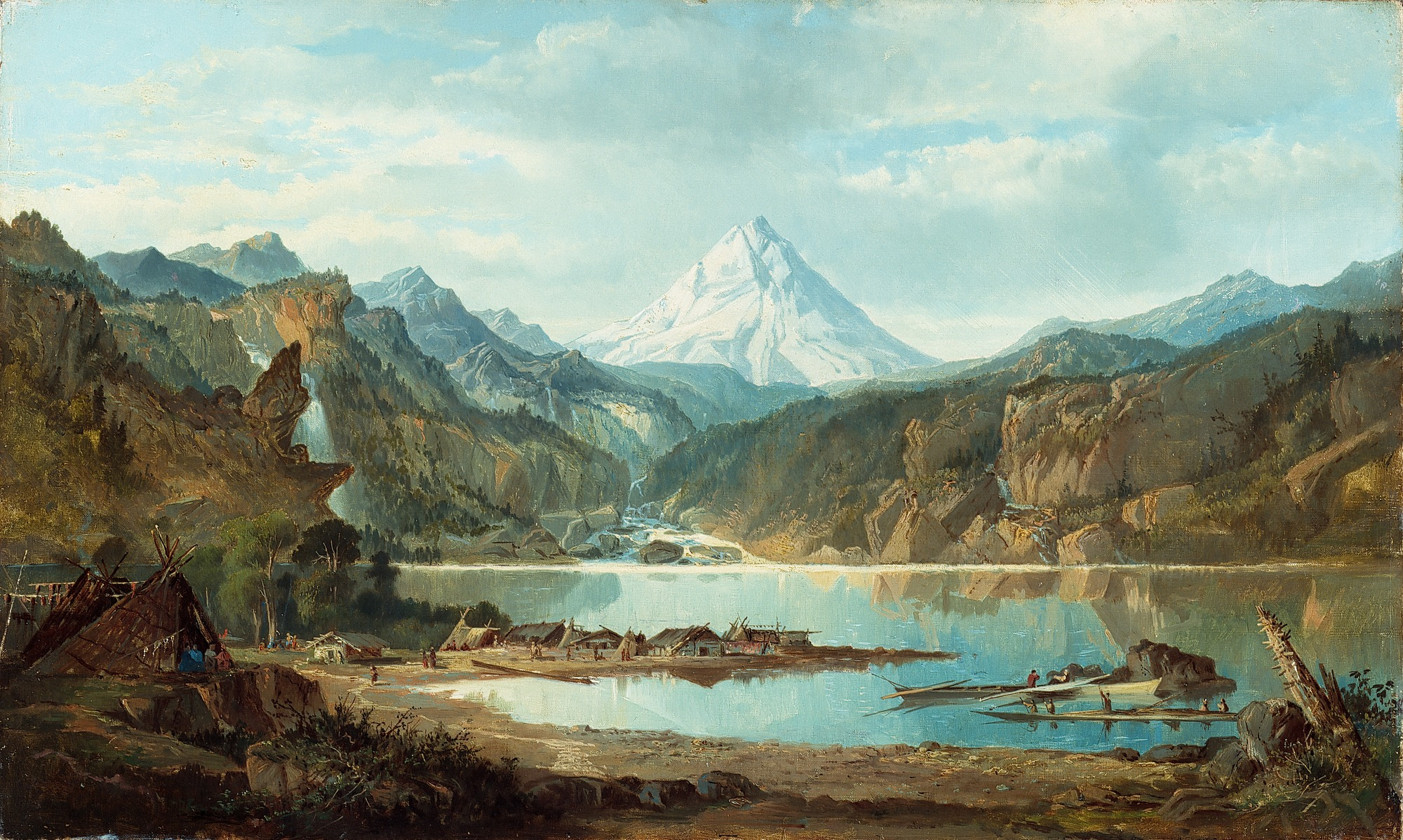 American Paint And Wallpaper Fall River File John Mix Stanley Mountain Landscape With Indians